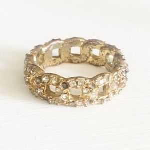 Chloe and Isabel Gold Pave Rhinestone Ring